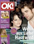 Heidi Klum, Jake Gyllenhaal, Kristen Stewart, Reese Witherspoon, Reese Witherspoon and Jake Gyllenhaal, Robert Pattinson, Robert Pattinson and Kristen Stewart, Robert Pattinson and Reese Witherspoon on the cover of Ok (Germany) - December 2009