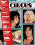 Gene Simmons on the cover of Circus (United States) - April 1985