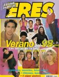 Agustina Cherri, Agustina Lecouna, Alejo Ortiz, Diego Ramos, Dolores Fonzi, Ezequiel Castaño, Guido Kaczka, Jazmín Stuart, Juan Ponce de León, Juan Ponce de León and Dolores Fonzi, Nahuel Mutti, Romina Ricci, Tomás Fonzi on the cover of Eres (Argentina) - April 1999