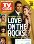 January Jones, Jon Hamm on the cover of TV Guide (United States) - July 2010