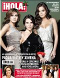 Kate del Castillo, Paola Espinosa, Ximena Navarrete on the cover of Hola (Mexico) - December 2011