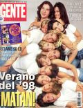 Agustina Cherri, Agustina Lecouna, Alejo Ortiz, Dolores Fonzi, Fernán Mirás, Marcela Kloosterboer, Nancy Dupláa on the cover of Gente (Argentina) - March 1998