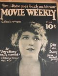 Mary Pickford on the cover of Movie Weekly (United States) - March 1921