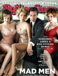Christina Hendricks, Elisabeth Moss, January Jones, Jon Hamm, Jon Hamm and January Jones on the cover of Rolling Stone (United States) - September 2010