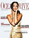 Zoe Saldana on the cover of Ocean Drive (Puerto Rico) - December 2009