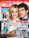 Antonio Banderas, Melanie Griffith on the cover of Hello (Canada) - June 2014