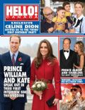 Céline Dion, Kate Middleton, Michael Jackson, Prince Albert, Prince William Windsor, Princess Charlene of Monaco, René Angelil on the cover of Hello (Canada) - November 2011