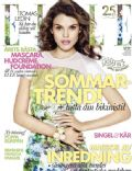 Josefin Gustafsson on the cover of Elle (Sweden) - May 2013