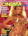 Traci Lords on the cover of Cinema Blue (United States) - August 1986