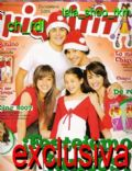 Juan Pedro Lanzani, María Candela Vetrano, Mariana Espósito on the cover of Chiquititas (Argentina) - December 2006