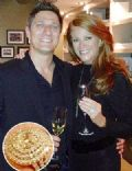 Angie Everhart and Carl Ferro