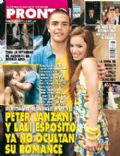 Juan Pedro Lanzani, Mariana Espósito on the cover of Pronto (Argentina) - December 2008