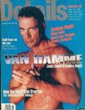 Jean-Claude Van Damme on the cover of Details (United States) - January 1996
