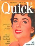 Elizabeth Taylor on the cover of Quick (United States) - January 1953