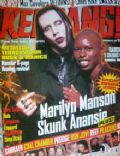 Marilyn Manson on the cover of Kerrang (United Kingdom) - September 1997