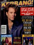 Jon Bon Jovi on the cover of Kerrang (United Kingdom) - January 1993