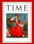 Lily Pons on the cover of Time (United States) - December 1940