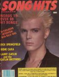 Billy Idol on the cover of Song Hits (United States) - May 1984