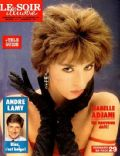 Isabelle Adjani on the cover of Le Soir Illustre (France) - September 1987