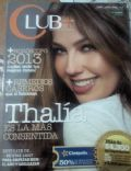 Thalía on the cover of Club (Mexico) - January 2013