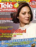 Marion Cotillard on the cover of Tele 2 Semaines (France) - July 2009