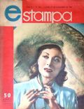 Greer Garson on the cover of Estampa (Argentina) - December 1947