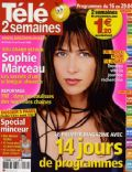Sophie Marceau on the cover of Tele 2 Semaines (France) - April 2005