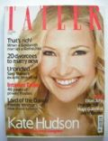 Kate Hudson on the cover of Tatler (United Kingdom) - October 2003