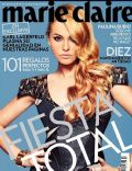 Paulina Rubio on the cover of Marie Claire (Mexico) - December 2012