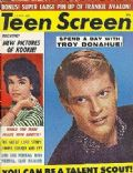 Troy Donahue on the cover of Teen Screen (United States) - July 1960