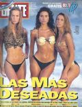 Barbara Durand, Déborah de Corral, Florencia Raggi on the cover of Gente (Argentina) - January 1993