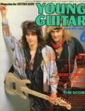 Robbin Crosby, Warren Demartini on the cover of Young Guitar (Japan) - June 1987