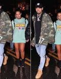 Chris Brown and Vanessa Vargas (Model)