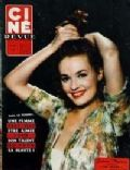 Jeanne Moreau on the cover of Cine Revue (France) - July 1958
