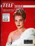 Jeanne Moreau on the cover of Tele Magazine (France) - June 1957