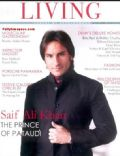 Saif Khan on the cover of Hi Living (India) - October 2009