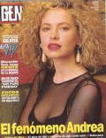 Andrea Del Boca on the cover of Gente (Argentina) - April 1993