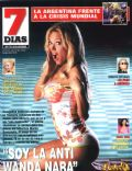 Evangelina Anderson on the cover of 7 Dias (Argentina) - October 2008