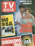 Andrea Del Boca, Ricardo Darín on the cover of TV Guia (Argentina) - December 1987