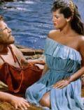 Kirk Douglas and Silvana Mangano