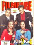 Kajol, Karisma Kapoor, Saif Khan on the cover of Filmfare (India) - April 2002