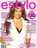 Kate del Castillo on the cover of Estylo (United States) - February 2008