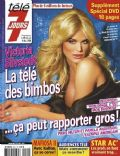 Victoria Silvstedt on the cover of Tele 7 Jours (France) - November 2008