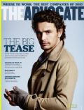 James Franco on the cover of The Advocate (United States) - October 2010