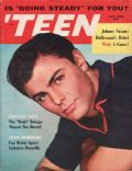 John Saxon on the cover of Teen (United States) - July 1958