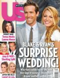 Blake Lively, Ryan Reynolds on the cover of Us Weekly (United States) - September 2012
