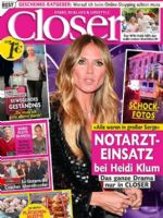 Closer Magazine [Germany] (22 November 2017)
