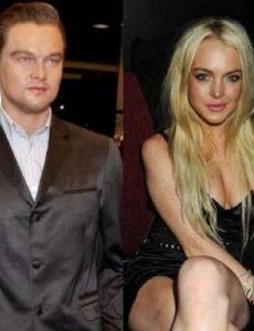 Leonardo DiCaprio and Lindsay Lohan