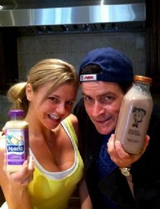 Bree Olson and Charlie Sheen