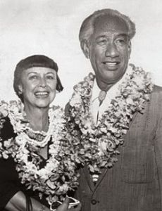 Duke Kahanamoku and Nadine Alexander
